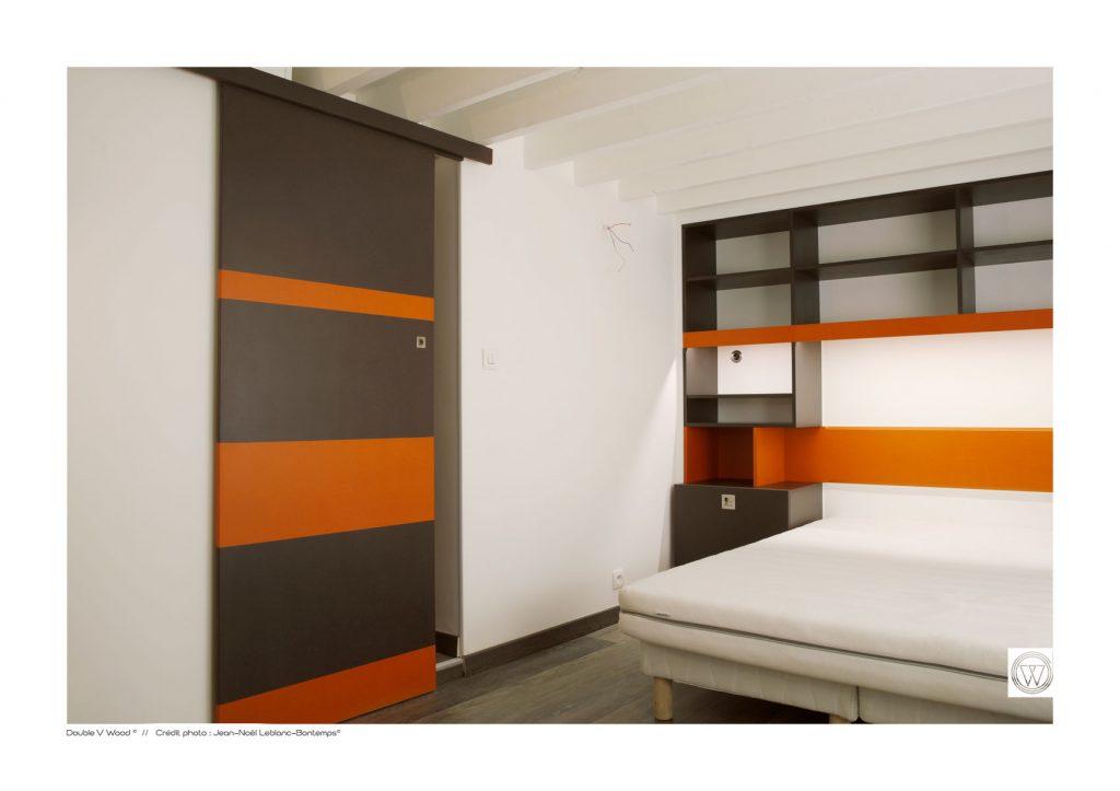 Architecture d\'intérieur colorée pour une chambre d\'étudiant ...